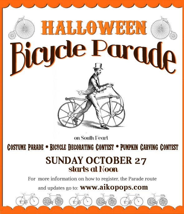 halloween bicycle parade on s pearl st